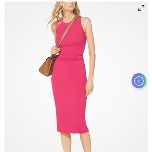 Michael kors deep pink knit skirt and tank sz xs-s